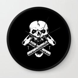 Skull Hammer Wall Clock