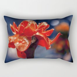 Caribbean Garden Flower Rectangular Pillow