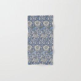 William Morris Navy Blue Botanical Pattern 7 Hand & Bath Towel