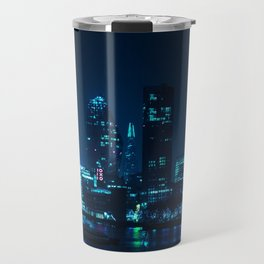 The Blue City Night (Color) Travel Mug