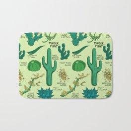 Native Desert Plants Bath Mat