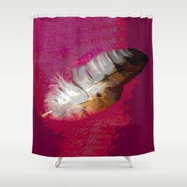 Modern Feather Shower Curtain