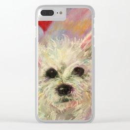 Scruffy Little Dog Clear iPhone Case