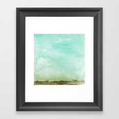 Washed Out Field Framed Art Print