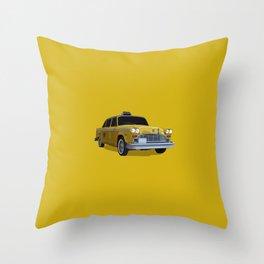 Taxi Driver (Robert De Niro) New York cab illustration Throw Pillow