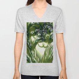 Vegetation. Abtract Art by Tito Unisex V-Neck
