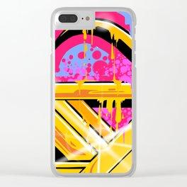Splash of Graffiti Mash Clear iPhone Case
