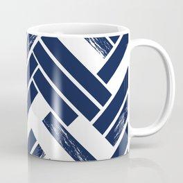 Modern Chevron - Blue Coffee Mug