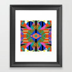 time warp test Framed Art Print