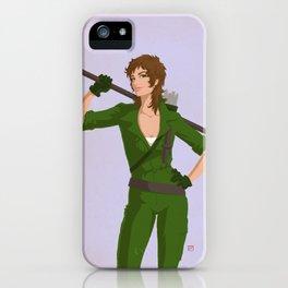 Retro Lady Jaye iPhone Case