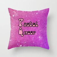 queer Throw Pillows featuring Pastel Queer by Paris Noonan