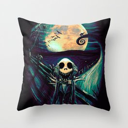 The Scream Before Christmas Throw Pillow
