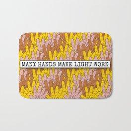 Many Hands Make Light Work Bath Mat