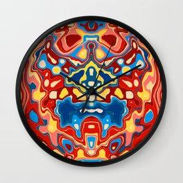 Biomorphic Primaries Wall Clock