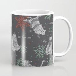 Christmas Chonks | Black Pattern Coffee Mug