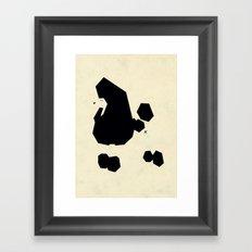 Poodle essence Framed Art Print