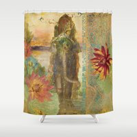 lily Shower Curtains featuring Lily by Aimee Stewart