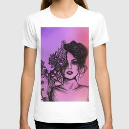 Sunset Succulent Babe | Sunset | Succulents | Cacti | Cactus | Succulent | Portrait | Pink | Orange T-shirt