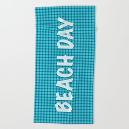 Checkered Squares Beach Towel