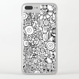 Contraptions 1 Clear iPhone Case
