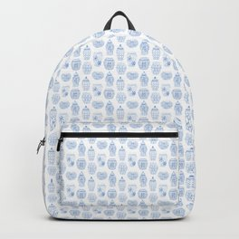 Classic Blue And White Watercolor Ginger Jar Chinoiserie Pattern Backpack