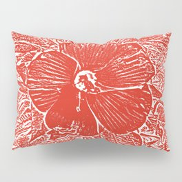 Red Hibiscus Pillow Sham