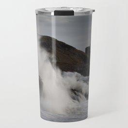 Storm Frank wave explosion Travel Mug