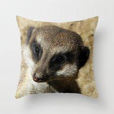 MM - Meerkat portrait Throw Pillow