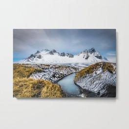 Vestrahorn, Iceland Metal Print