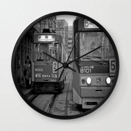 It's time to Start / Japan / Streetcar system / Hokkaido / Hakodate  Wall Clock