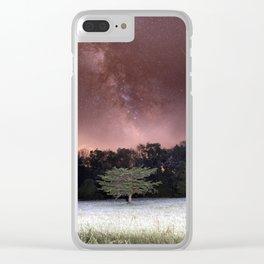 Milky Way Meteor Field Clear iPhone Case