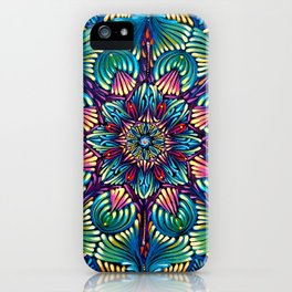 Kaleidoscopic Mandala iPhone Case