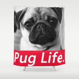 PUG LIFE BOX Shower Curtain