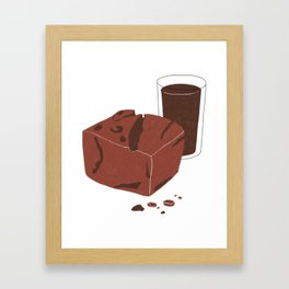 Double Chocolate Framed Art Print