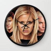 buffy Wall Clocks featuring Buffy The Vampire Slayer  by SB Art Productions