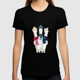 Happy llamas Christmas choir T-shirt
