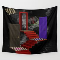 nightmare Wall Tapestries featuring nightmare by Ancello