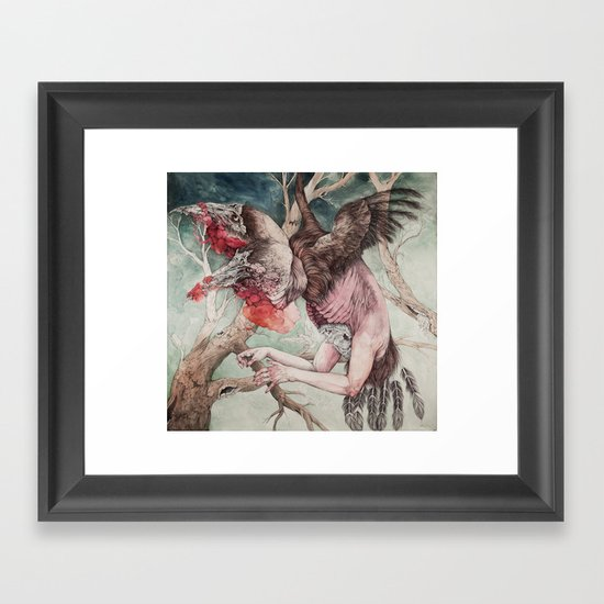 """Insatiable"", as a print Framed Art Print"
