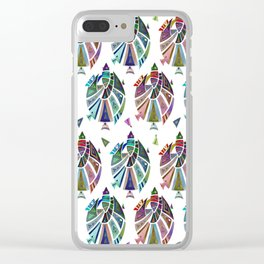 Fish geometric pattern Clear iPhone Case