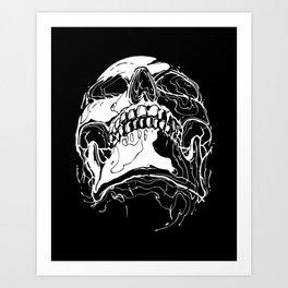 Carnibal / Ink Skull / White / S Art Print