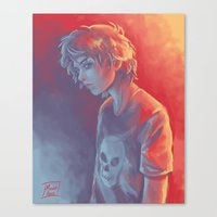 nico di angelo Canvas Prints featuring Nico by Monsie