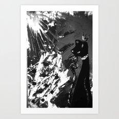 Black Cat Storm Art Print