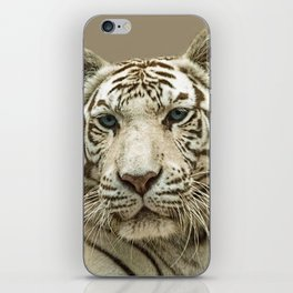 WHITE TIGER CHARM iPhone Skin