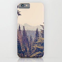 Mountains through the Trees iPhone Case