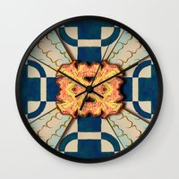 zentangle Wall Clocks featuring Zentangle by Trevor Seymour