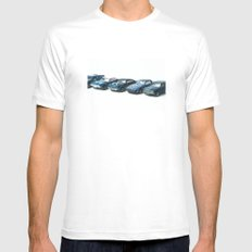 Ready to Race - Retro Toy Cars MEDIUM White Mens Fitted Tee