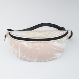 Gold Blush Palm Leaves Fanny Pack
