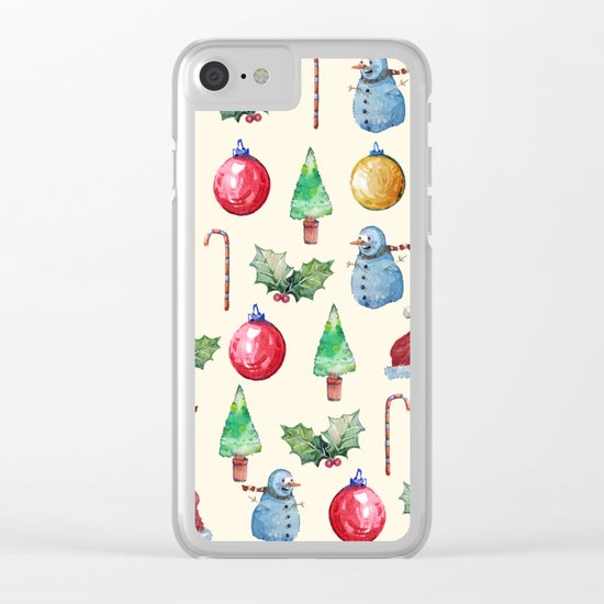 Christmas!! Pattern! (Holidays) Clear iPhone Case