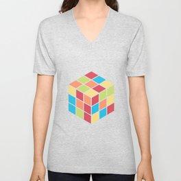 #68 Rubix Cube Unisex V-Neck