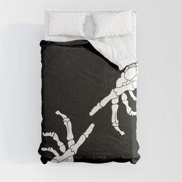 Until Death Do Us Part - Skeleton Hands Comforters